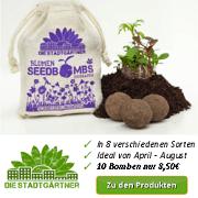 Seedbomb Footer Samenbomben – Schnell geworfen, lange gefreut